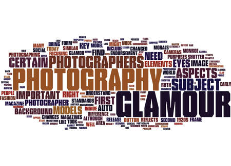 GLAMOUR PHOTOGRAPHY Text Background Word Cloud Concept Ilustrace