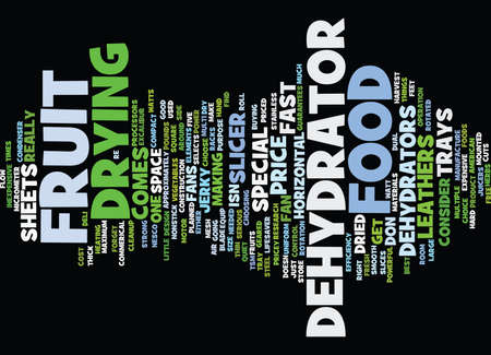 FOOD DEHYDRATORS Text Background Word Cloud Concept
