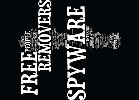 FREE SPYWARE REMOVER Text Background Word Cloud Concept