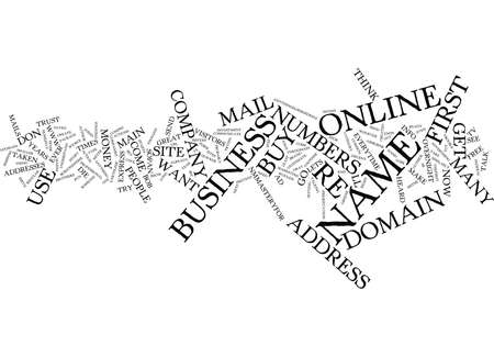 GET YOUR OWN DOMAIN NAME OR DIE ONLINE Text Background Word Cloud Concept