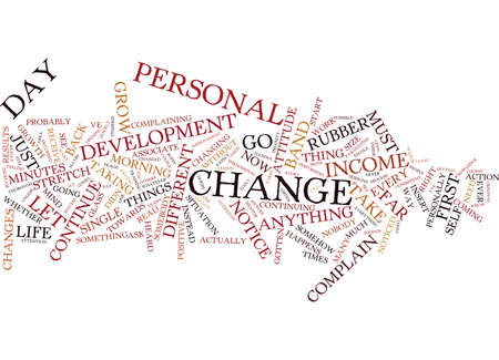 FOR YOUR LIFE TO CHANGE YOU MUST CHANGE Text Background Word Cloud Concept Çizim