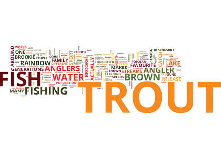 FRESHWATER TROUT Text Background Word Cloud Concept Illustration