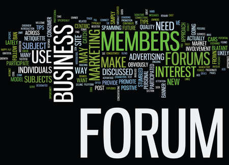 FORUMS A CONSUMER CENTRIC APPROACH Text Background Word Cloud Concept Illustration