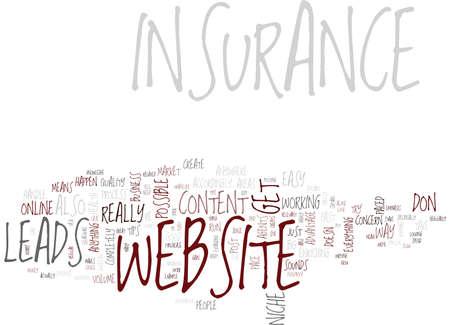 GOOD INSURANCE WEBSITE CONTENT Text Background Word Cloud Concept Ilustração