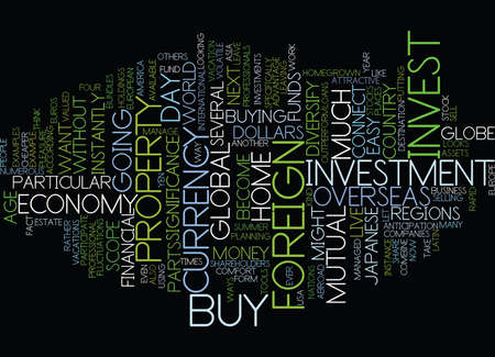 according: GLOBAL INVESTMENT FROM HOME Text Background Word Cloud Concept Illustration