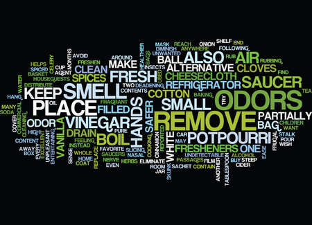 FRUGAL AND SAFER AIR FRESHENERS Text Background Word Cloud Concept Illustration