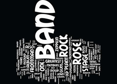 FLAMBOYANT ROCK BAND FRONTMEN PART Text Background Word Cloud Concept