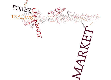 vs: FOREX MARKET VS STOCK MARKET WHICH IS RIGHT FOR YOU Text Background Word Cloud Concept