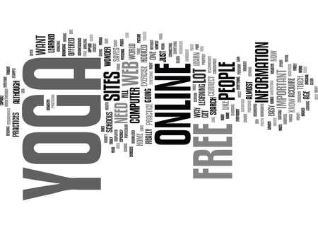YOGA EN LIGNE LIBRE Contexte de texte Word Cloud Concept