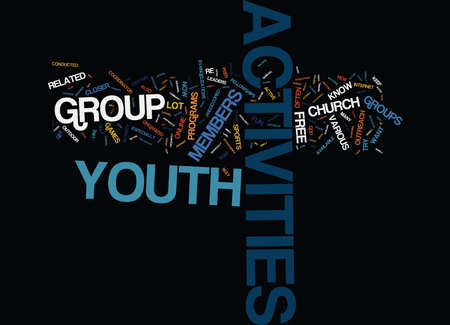 FREE YOUTH ACTIVITIES Text Background Word Cloud Concept
