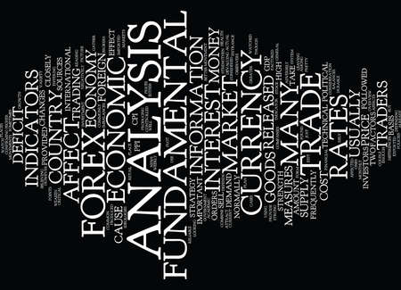 FOREX FUNDAMENTAL ANALYSIS Text Background Word Cloud Concept
