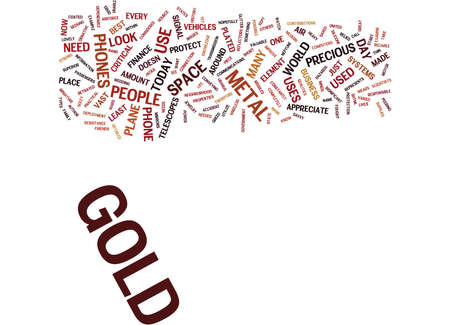 GOLD DOESN T JUST GLITTER Text Background Word Cloud Concept