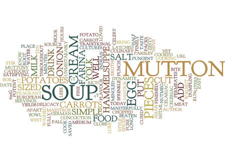 FRAGRANT HAMMELSUPPE Text Background Word Cloud Concept Çizim