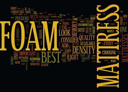FOAM MATTRESS Text Background Word Cloud Concept