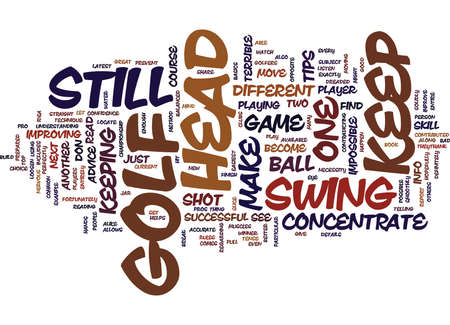 GOLFERS DO NOT MOVE Text Background Word Cloud Concept