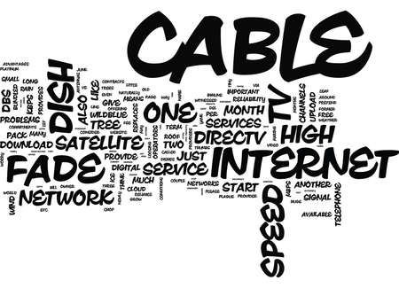 GIVE ME CABLE PLEASE YANK MY DISH Text Background Word Cloud Concept