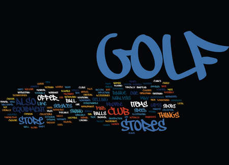 GOLFSTORE Text Background Word Cloud Concept