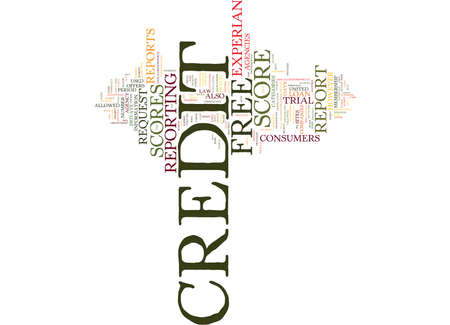 FREE CREDIT SCORE Text Background Word Cloud Concept Çizim