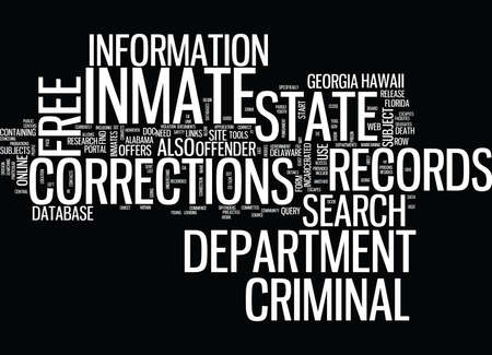 FREE INMATE CRIMINAL RECORDS Text Background Word Cloud Concept