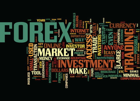FOREX AN ALTERNATIVE INVESTMENT VEHICLE Text Background Word Cloud Concept Illustration