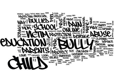 GOODBYE MY BULLIED BABY Tekst Achtergrond Word Cloud Concept