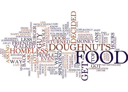 FREE GOUGHNUTS Text Background Word Cloud Concept