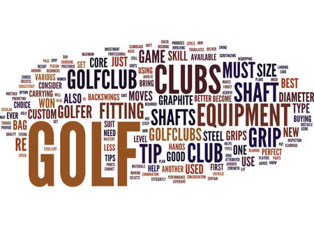 GOLF TIP Text Background Word Cloud Concept