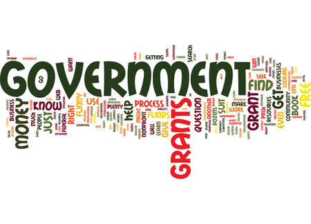 FREE MONEY FROM THE GOVERNMENT Text Background Word Cloud Concept