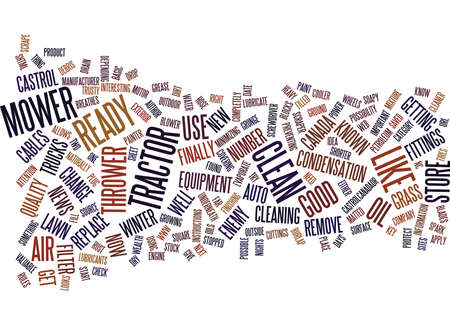 FROM MOWER TO THROWER Text Background Word Cloud Concept Illustration