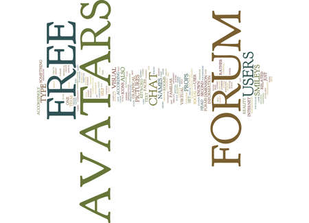 FREE FORUM AVATARS Text Background Word Cloud Concept