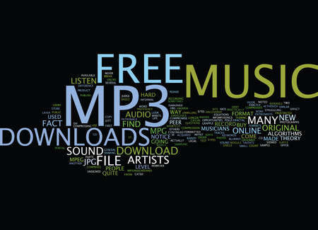 FREE MP MUSIC DOWNLOAD Text Background Word Cloud Concept