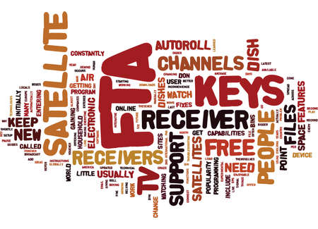 FTA KEYS Text Background Word Cloud Concept Illustration