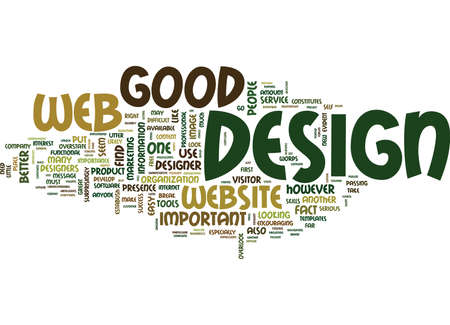 GOOD WEB DESIGN IS SO IMPORTANT Text Background Word Cloud Concept Ilustração