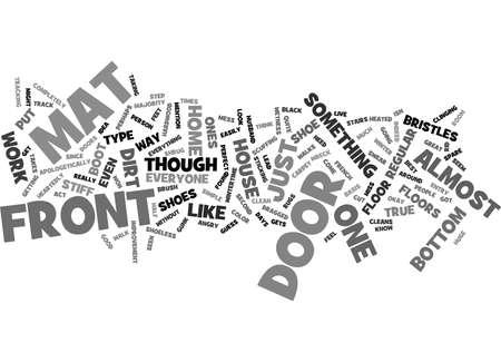 FRONT DOOR MAT Text Background Word Cloud Concept