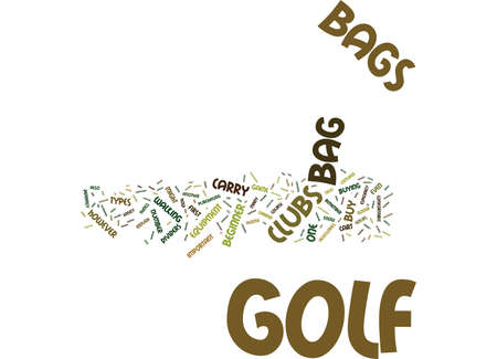 GOLFBAGS Text Background Word Cloud Concept