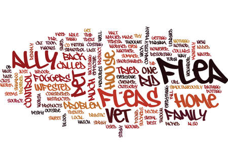 FLEA CONTROL WITH CATS AND DOGS Text Background Word Cloud Concept