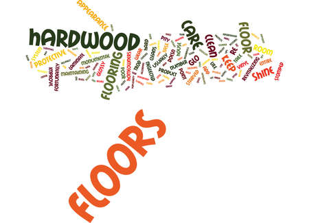 FLOOR CARE Text Background Word Cloud Concept Illustration