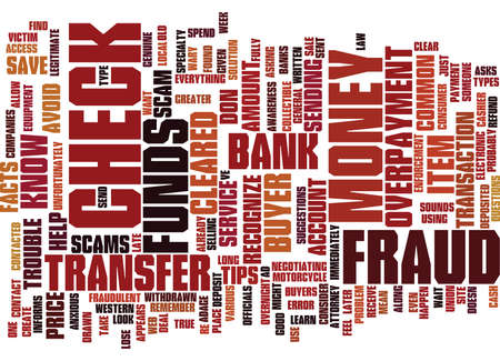 FRAUD FACTS AND TIPS TO HELP YOU Text Background Word Cloud Concept Illustration