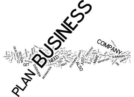 효과적인 비즈니스 계획에 5 단계 텍스트 배경 Word 클라우드 개념