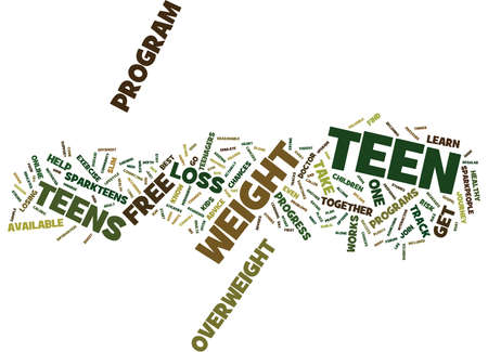 FREE WEIGHT LOSS FOR TEENS SAFE AND IT WORKS Text Background Word Cloud Concept 向量圖像