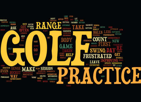 GOLF PRACTICE ISN T IMPORTANT IF Text Background Word Cloud Concept