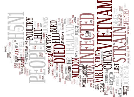 GLOBAL SPREAD OF BORD FLU Text Background Word Cloud Concept