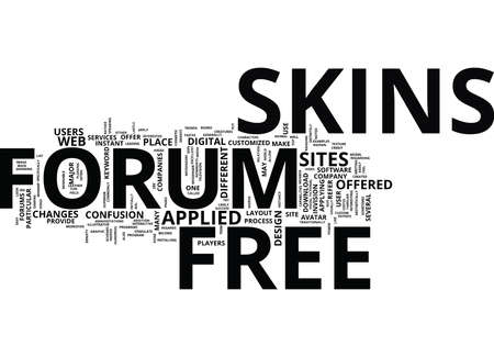 FREE FORUM SKINS Text Background Word Cloud Concept
