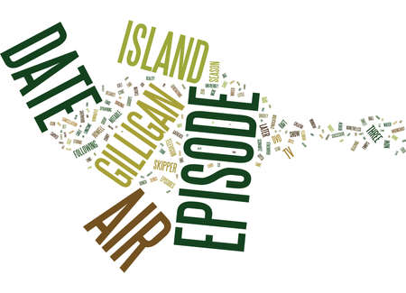 GILLIGAN S ISLAND DVD REVIEW Text Background Word Cloud Concept 向量圖像
