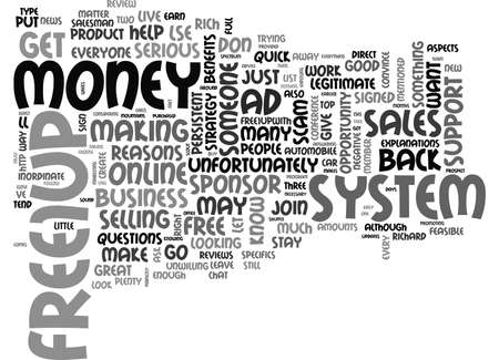 FREEUP REVIEW GREAT OPPORTUNITY MAY NOT BE FOR YOU Text Background Word Cloud Concept Ilustrace