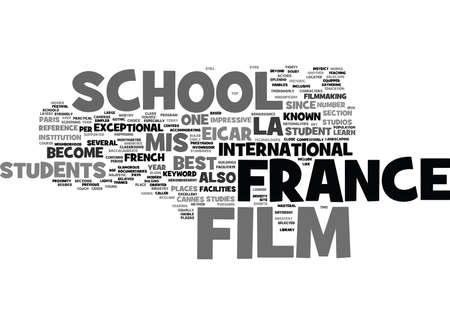 FRANCE FILM SCHOOL Text Background Word Cloud Concept