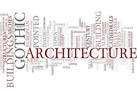 GOTHIC ARCHITECTURE Text Background Word Cloud Concept