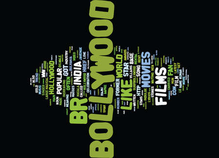 bollywood: GOT BOLLYWOOD Text Background Word Cloud Concept