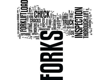 FORKLIFT FORKS AND LOADS Text Background Word Cloud Concept