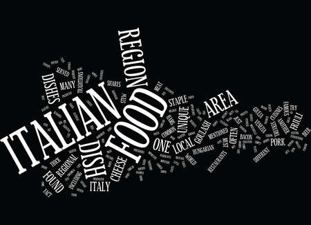 FRIULI VENEZIA GIULIA ITALIAN FOOD Text Background Word Cloud Concept